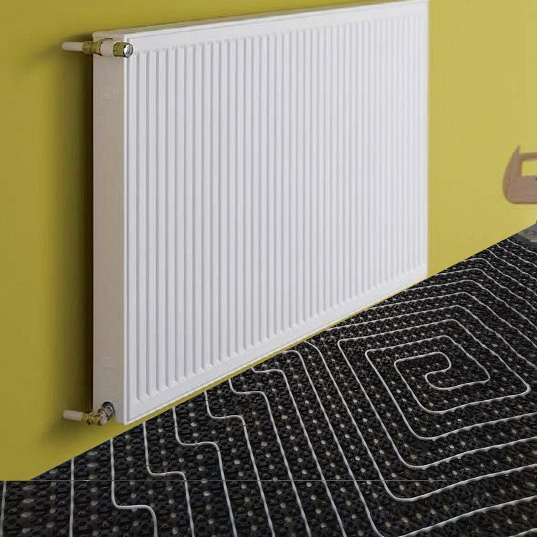 что энергоэффективней теплый пол или радиаторное отопление